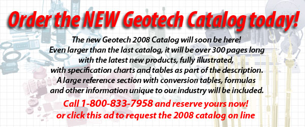 Order the new Geotech Catalog today!