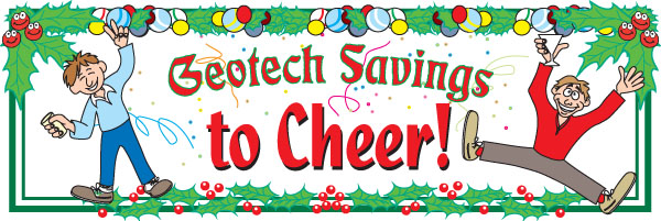 Geotech Savings to Cheer