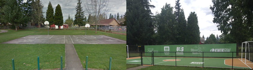 Gresham before and after