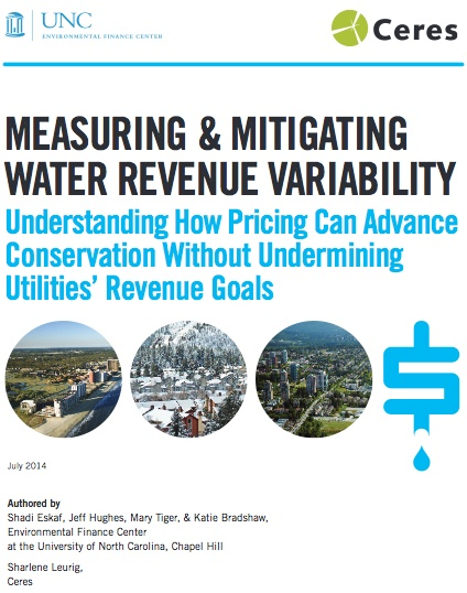 Measuring and Mitigating Water Revenue Variability Report Cover
