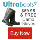 UltraBoots On Sale and Get a FREE Pair Camo Texting Gloves With Order