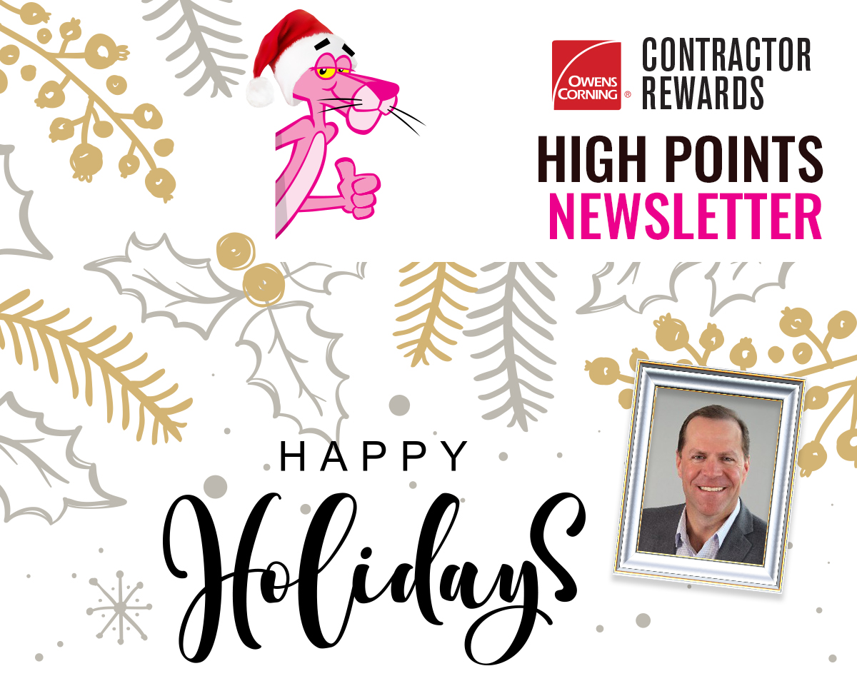 High Points Newsletter - Happy Holidays from Owens Corning
