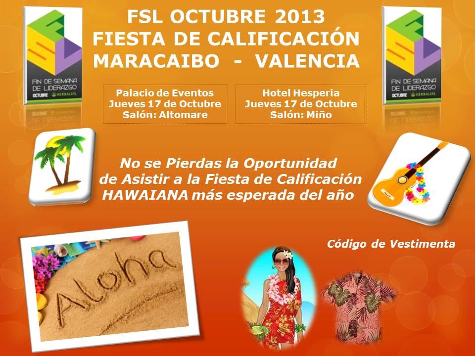 Flyer B FSL Octubre 2013 4 Tematica Fiesta de Calificacion