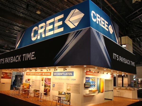 trade show display lighting - the Cree trade show exhibit at Lightfair 2011