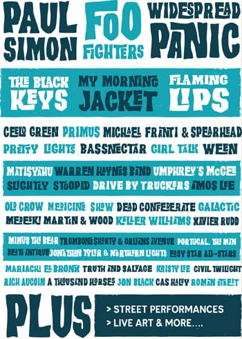 Paul Simon, Foo Fighters, Wide Spread Panic, The Flaming Lips, The Black Keys, My Morning Jacket Added To Hangout Music Festival 2011
