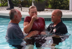 Pool Baptism 2
