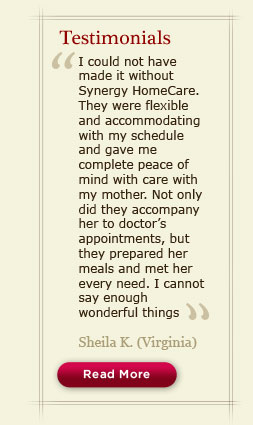 Read testimonials from our clients, caregivers and the health care professionals we work with