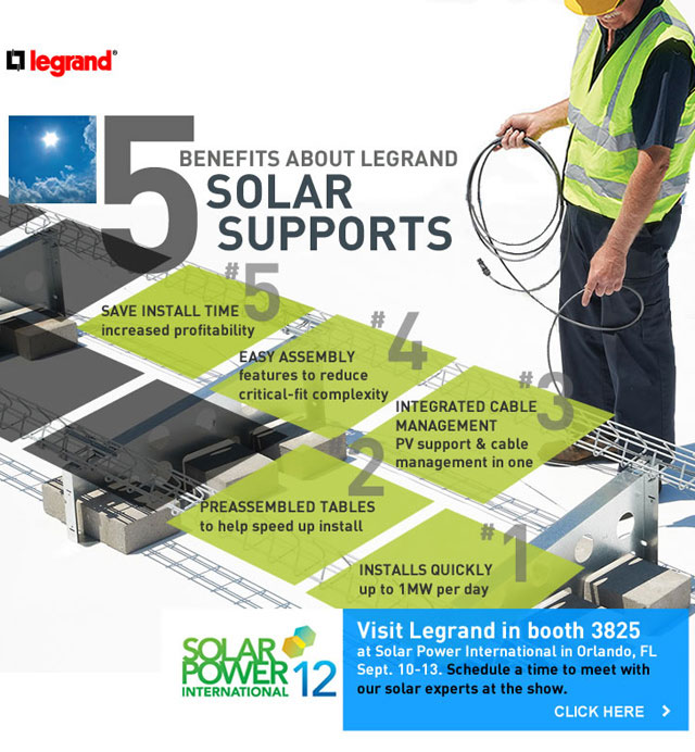 5 Key benefits of Legrand solar support systems - click to learn more or schedule a time to discuss your needs at the upcoming Solar Power International show in Orlando