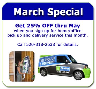 march special take 25 percent off garment dry cleaning