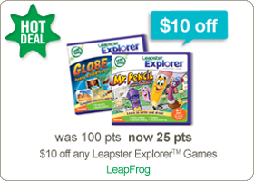 $10 off any Leapster Explorer games at RecycleBank