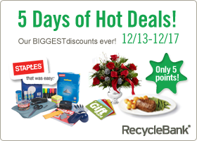 5 Days of Hot Deals at RecycleBank