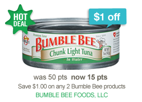 $1 Off any 2 Bumble Bee Products at RecycleBank