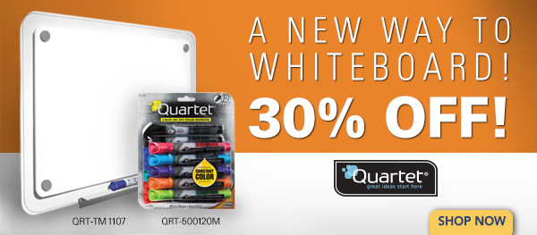 30% off iQ™ Total Erase® whiteboard + up to 40% off everyday essentials