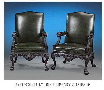 19th-Century Irish Library Chairs
