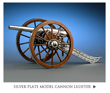 Silver Plate Model Cannon Lighter