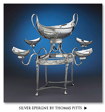 Silver Epergne by Thomas Pitts