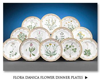 Flora Danica Flower Dinner Plates