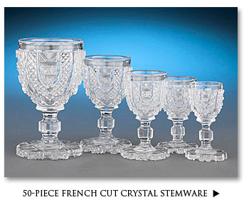 French Cut Crystal Stemware
