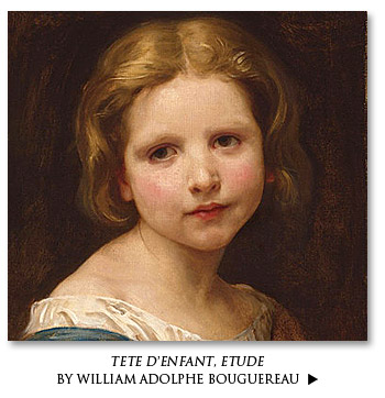 Tete d'enfant, etude by William Adolphe Bouguereau