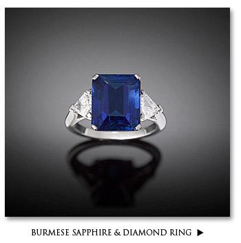 Burmese Sapphire & Diamond Ring
