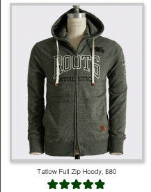 Tatlow Full Zip Hoody, $80
