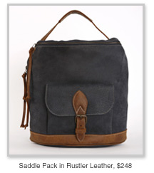 Saddle Pack in Rustler Leather, $248
