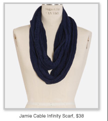 Jamie Cable Infinity Scarf, $38