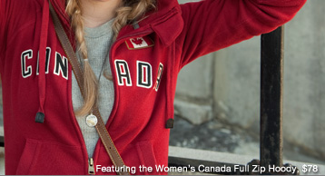 Womens Canada Full Zip Hoody, $78