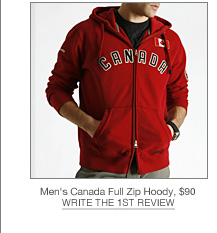 Mens Canada Full Zip Hoody, $90