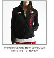 Womens Canada Track Jacket, $98
