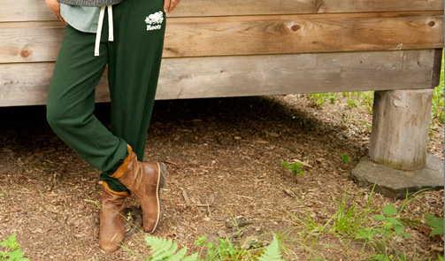 Roots Original Sweatpant in Park Green, $64