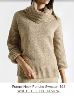 Funnel Neck Poncho Sweater, $98