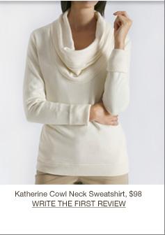 Katherine Cowl Neck Sweatshirt, $98