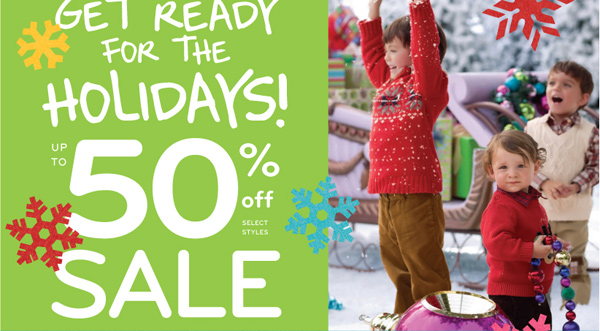 Get ready for the holidays! Up to 50% off sale!