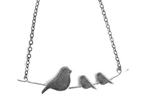 Bird and Babies Necklace