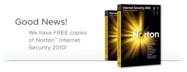 We have copies of Norton™ Internet Security 2010