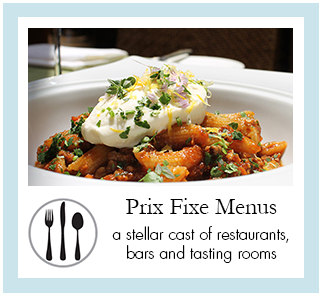 Prix Fixe Menus