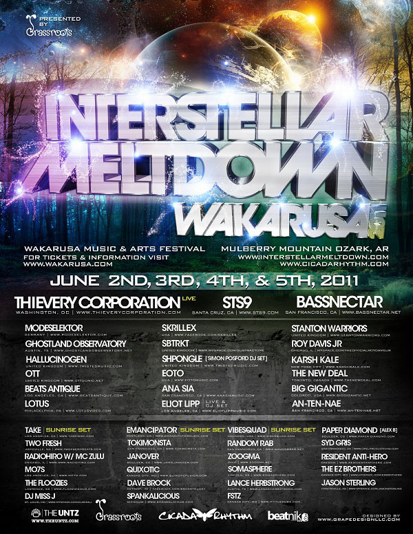 Wakarusa 2011 - Interstellar Meltdown Announced