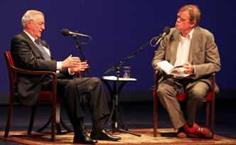 Photo: Garrison Keillor and Walter Mondale