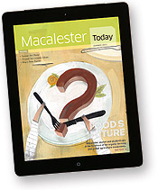 Image of Macalester Today on iPad