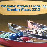 Ad: Macalester Women's Canoe Trip Boundary Waters 2012