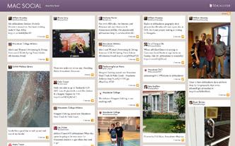 Screen shot of Mac Social.