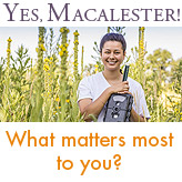 Ad: Tes, Macalester! What matters most to you?