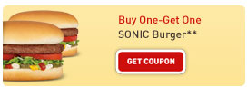 Buy One Get One SONIC Burger**