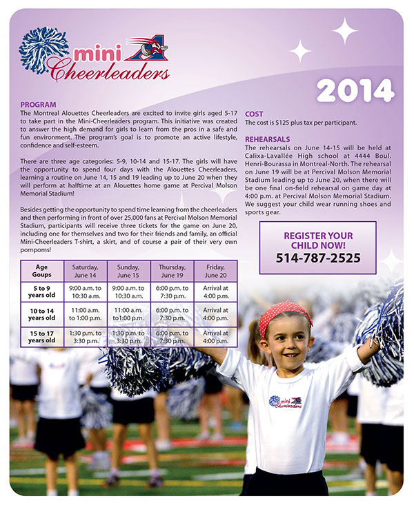 2014 mini Alouettes cheerleaders