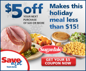 Holiday Meal for less than $20