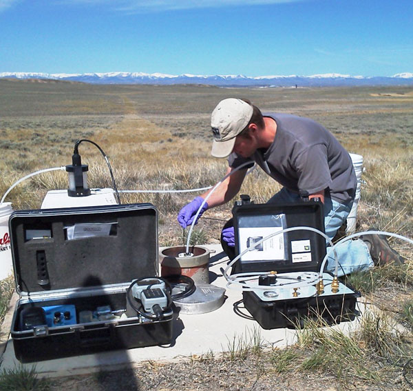 Groundwater sampling in Wyoming