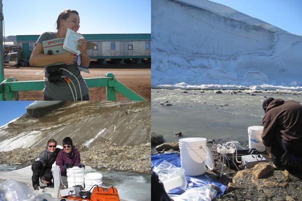 Water sampling in Greenland