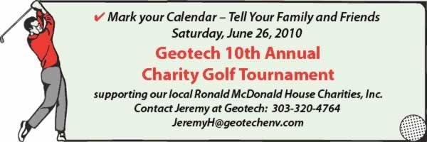 10th Annual Golf Tournament Announcement