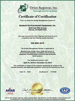 Certificate of ISO Certification